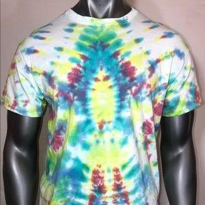 Multicolored tie dye crewneck large